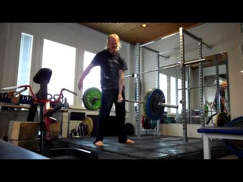 169kg ONE ARM BARBELL HOLDS: Tribute to Hermann Görner