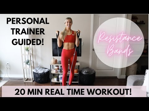 20 Minute Full Body Resistance Bands with Handles Workout | Resistance Band Workout
