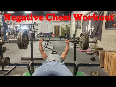 Insane Chest Workout!!! How to use negatives when doing the bench press.
