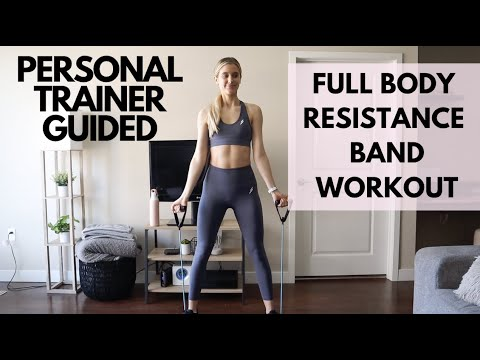 Full Body Resistance Band Home Workout | 20 minute real time circuit