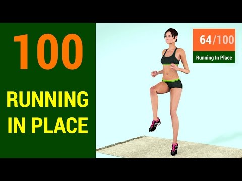100 Running In Place Challenge [At Home Cardio & Weight Loss]