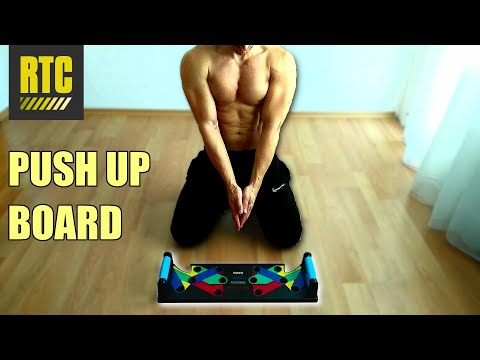 Push Up Board with Handle Bars - Best Home Gym Equipment for Workout Exercises