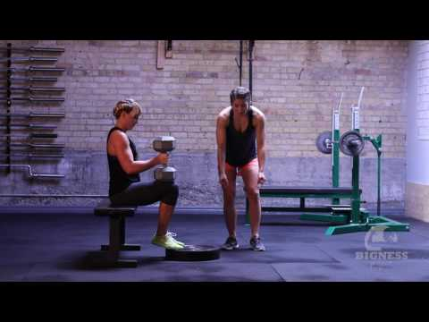 The Bigness Project Demo: Dumbbell Seated Calf Raise