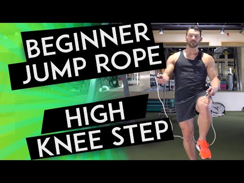 HIGH KNEE STEP Tutorial - HOW TO JUMP ROPE FOR BEGINNERS // Day 3
